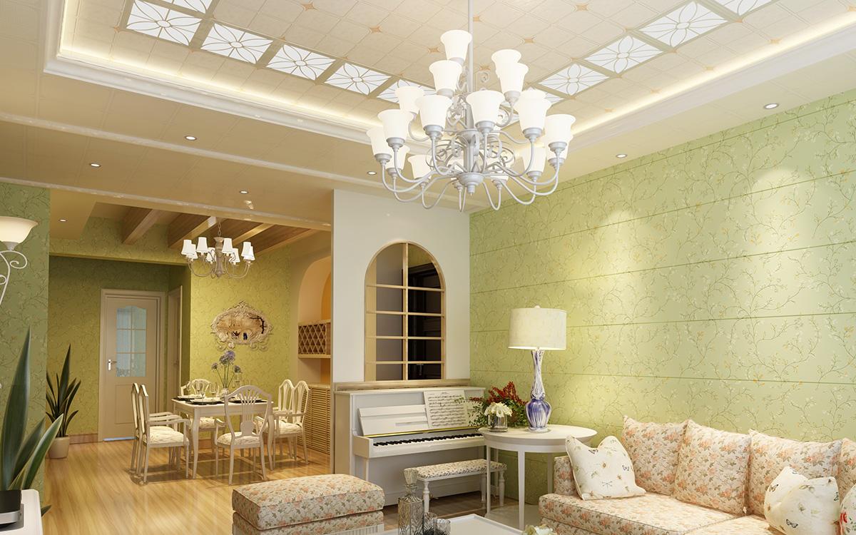 客厅原木雕花镂空图片